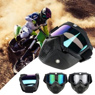 Xe Máy Đội Mũ Bảo Hiểm Kính Trượt Tuyết Mặt Nạ Trượt Tuyết Trượt Tuyết Cho Nam Nữ Windproof Motocross Bảo Vệ Kính Kính Bảo Hộ Có Miệng Kính Râm Kính thumbnail