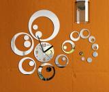 Spesifikasi Acrylic 3D Diy Dekorasi Rumah Fashion Permukaan Cermin Lingkaran Wall Stiker Jam Dial Dan Harganya