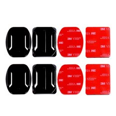 Action Cam 2x Flat & 2x Curved Mounts w/ Adhesive Tapes for SJCAM SJ4000/SJ5000/M10 & GoPro HERO 4/3+/3