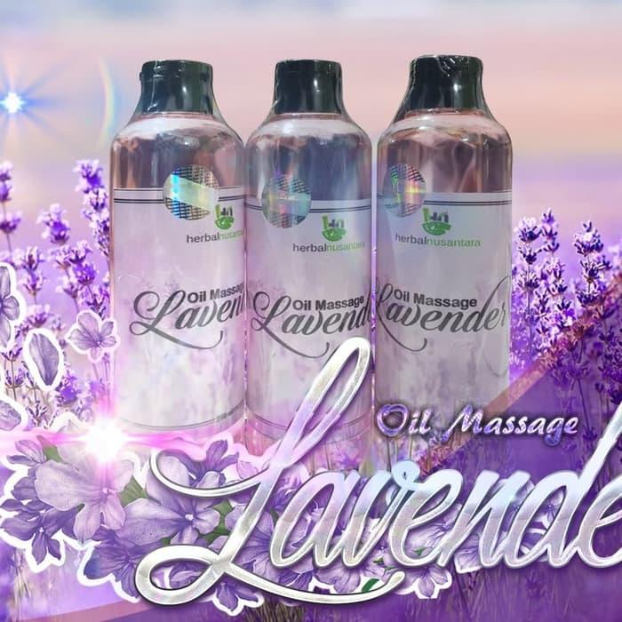 Bayar Di Tempat - 250ml Masage Oil Lavender Aromatherapy Pure Minyak Urut Gosok Pijat Spa Herbal Nusantara By Cover Ban.