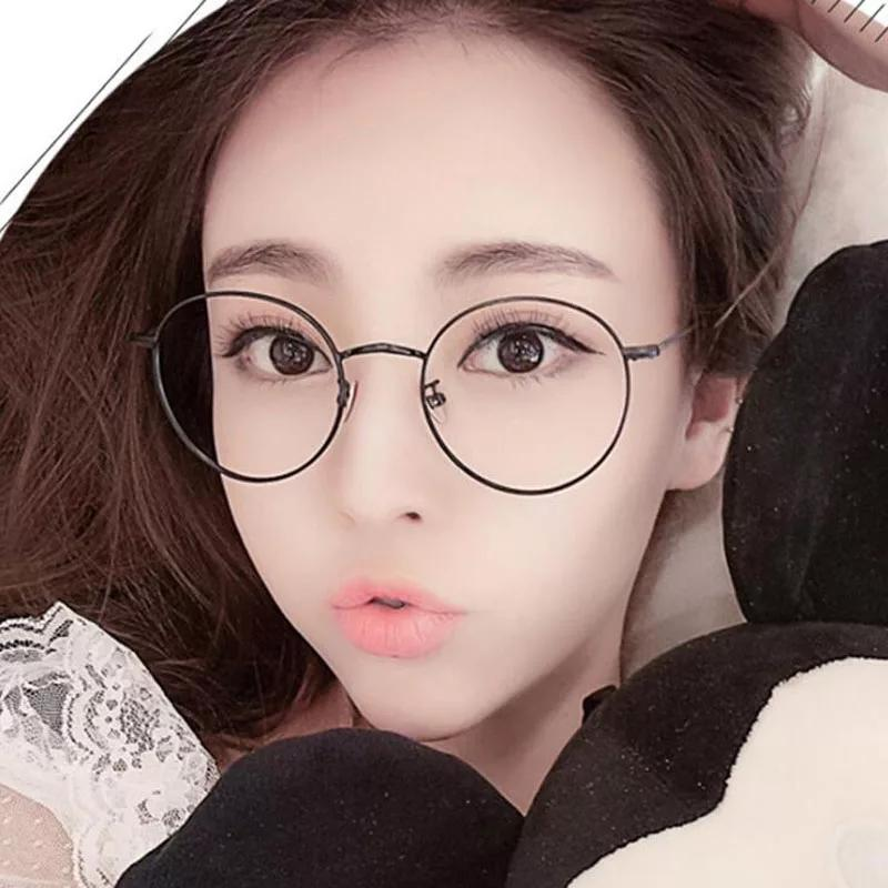 Kacamata Bulat Gaun Up Lensa Bening Logam Kaca Polos Bingkai Spectacles Kaca Mata Fashion Korea Style Jhon Lenon Kcm01 By Jbs Store.