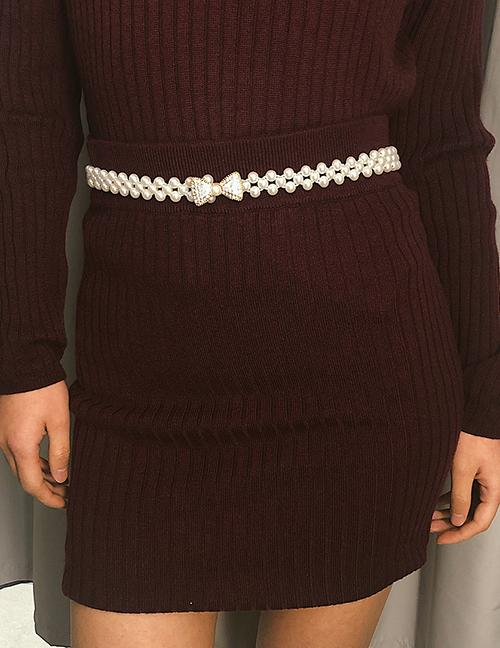 LRC Ikat Pinggang Fashion Gold Color Bowknot Shape Decorated Body Chain