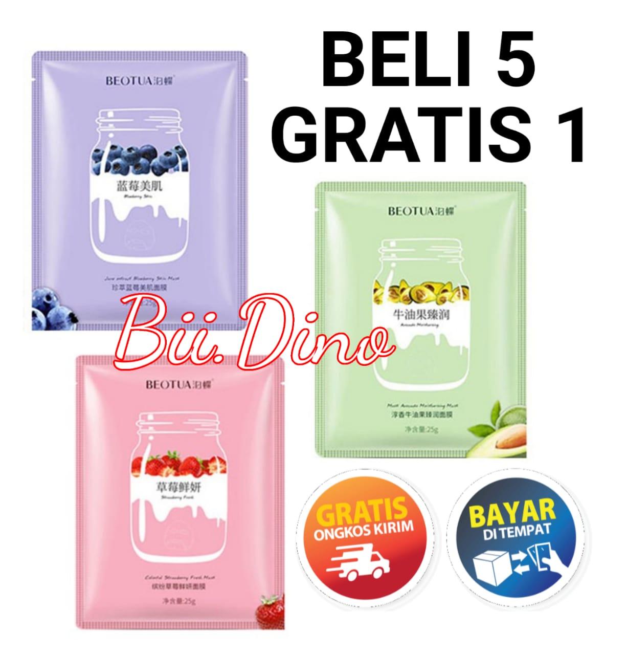 (BELI 5 GRATIS 1) Beotua Yogurt Mask Beotua Masker Yogurt