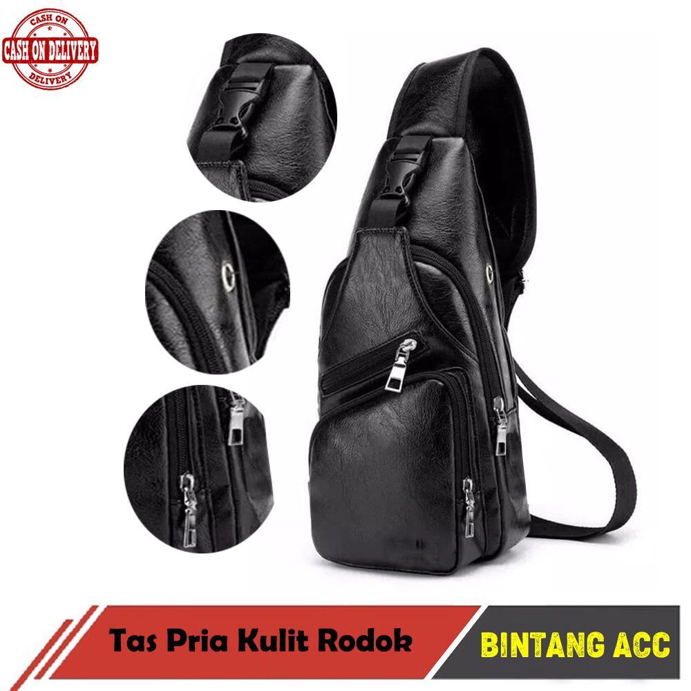 Bintang Acc - Tas Selempang Pria - Sling Bag Kulit Non USB Versi 2 - Tas