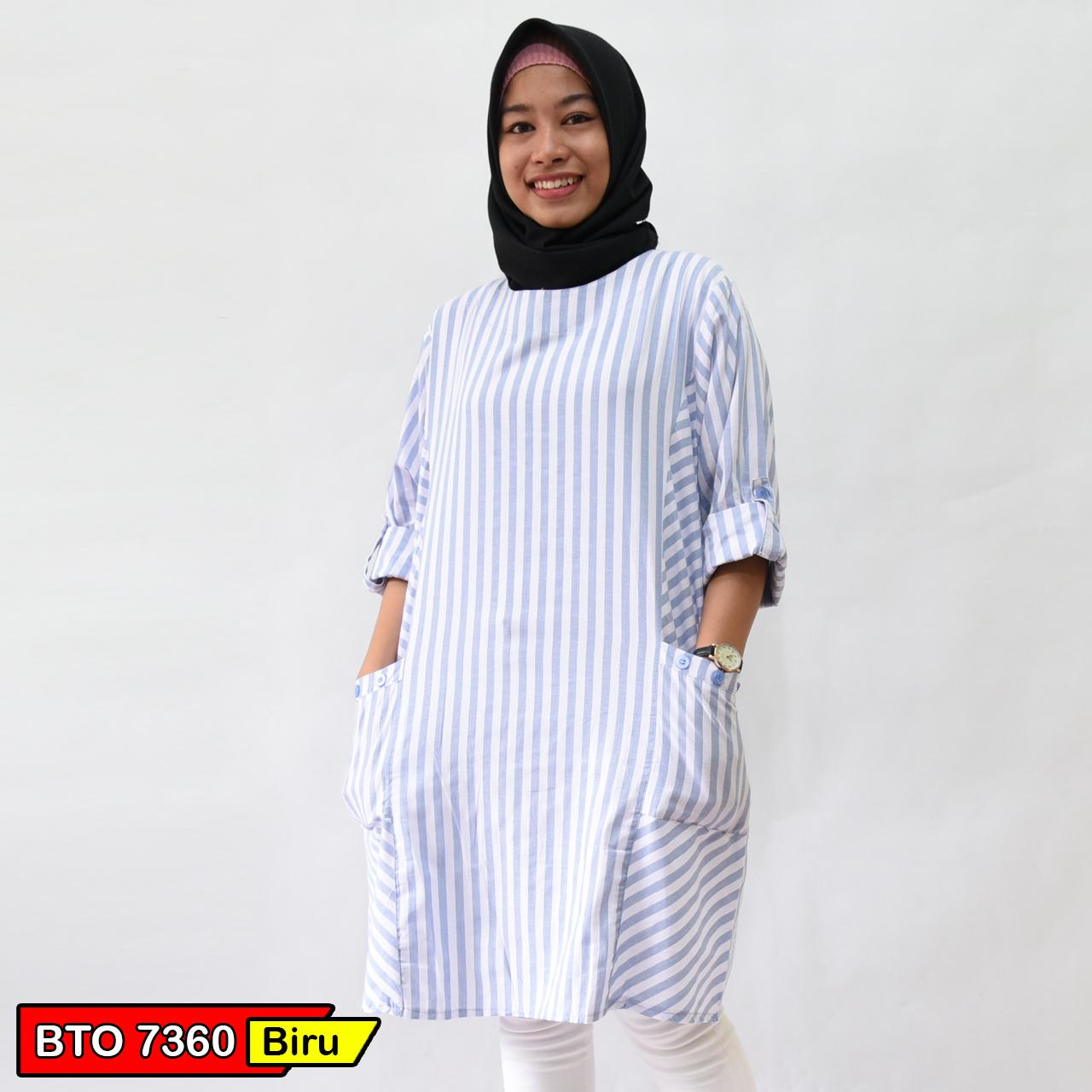 TUNIK Fashion Wanita - BLOUSE Atasan Muslim Bahan Katun Best Seller Ori Tokodenay Mode BTO 7360