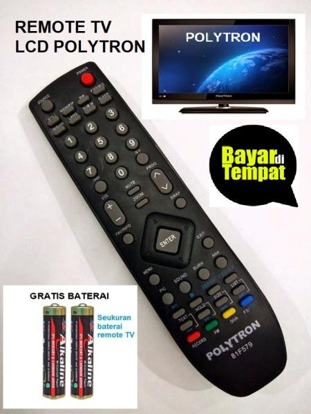 Remote TV LCD POLYTRON Asli Remot 100% Gratis Baterai Remot Hitam - Remot TV LCD LED Politron/BOM13