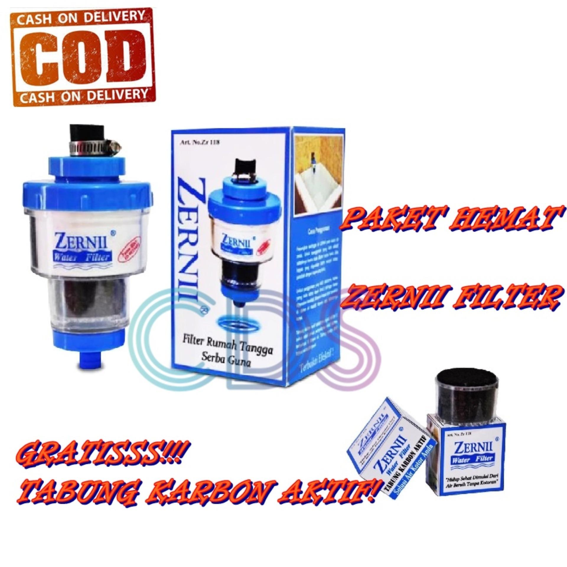 Paket HEMAT Zernii Water Filter + FREE Refill Carbon Filter Air