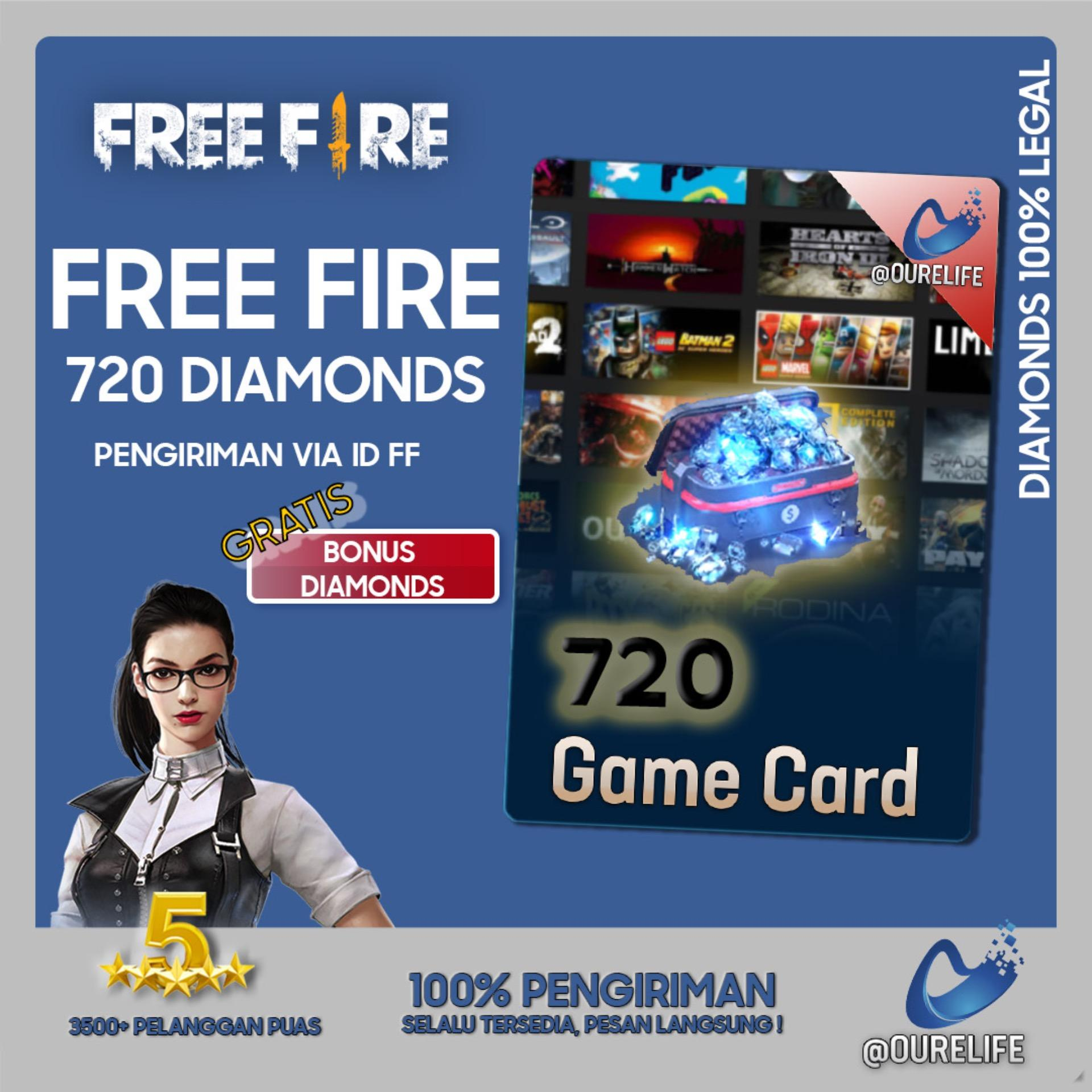Top Up 720 Diamond Free Fire By Ourelife.co.id.
