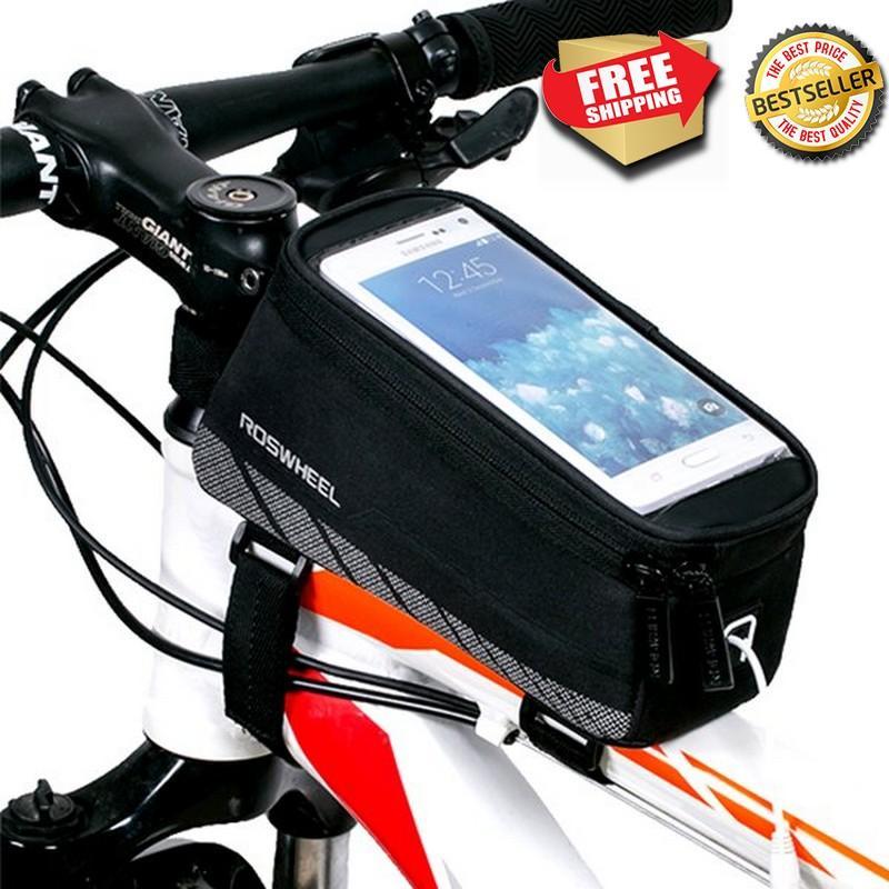 Tas Sepeda Roswheel Smartphonebag 5 5 inc L size model baru pasang di polygon giant merida thrill MTB