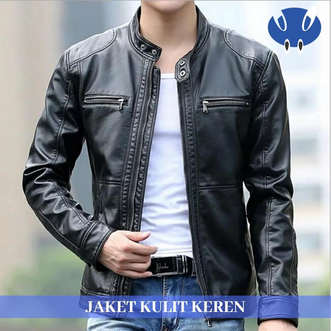Jaket Kulit Motor Pria / Jaket Bikers Night Black
