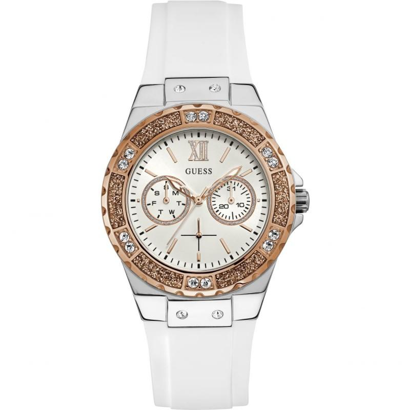 Authentic Cassual Lime Wanita Jam Tangan Guess White W1053l2 Autograph jL3RA54q