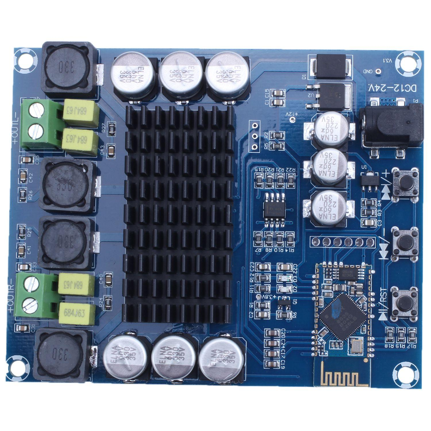 TPA3116D2 120W+120W Wireless Bluetooth 4 0 Audio Receiver Digital Amplifier  Board