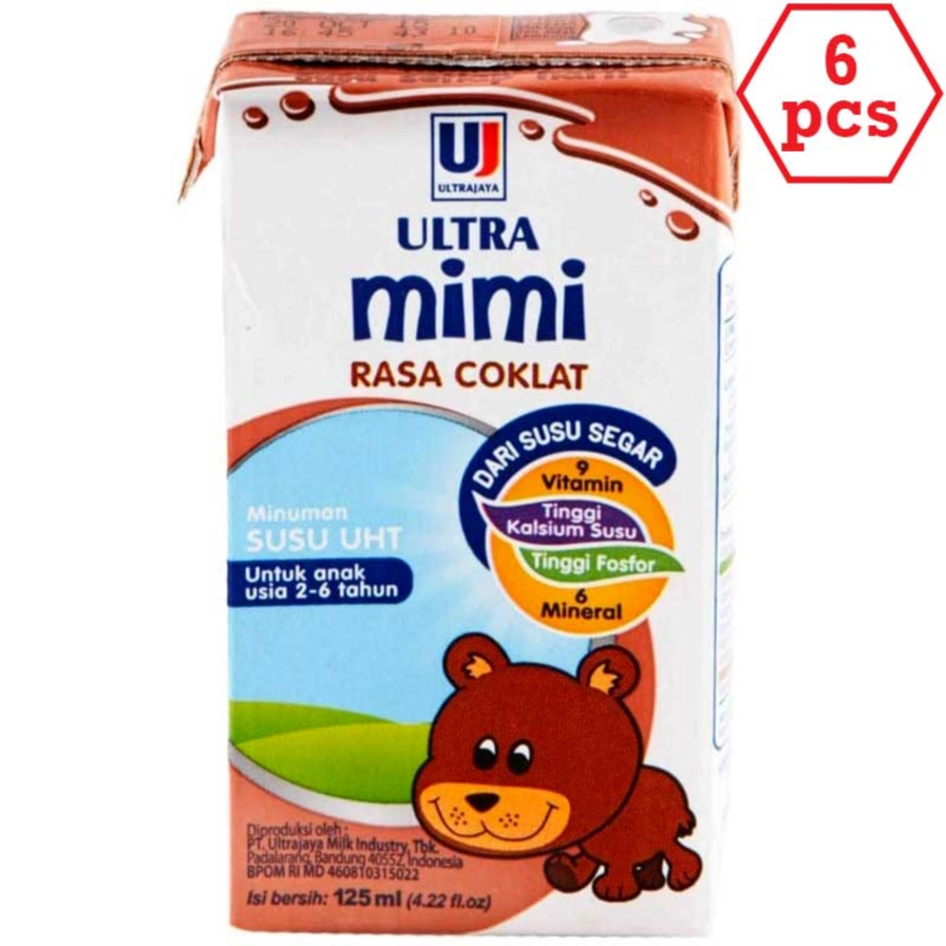 ULTRA mimi Susu UHT Cokelat 125ml 6pcs