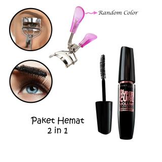 Paket Hemat 2in1 - Mascara Hiper Curl & Penjepit Bulu Mata Berkualitas thumbnail