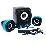 Beli Barang Advance Speaker Usb Duo 300 Hitam Biru Online