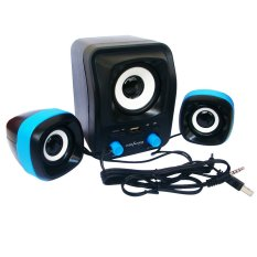 Advance Speaker USB Duo-300 - Hitam Biru