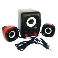 Advance Speaker USB Duo-300 - Hitam Merah
