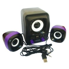 Advance Speaker USB Duo-300 - Hitam Ungu