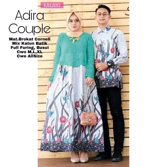 Likin TERMAHAL Baju batik couple sarimbit sepasang hem dan gamis batik murah terbaru Couple Adira