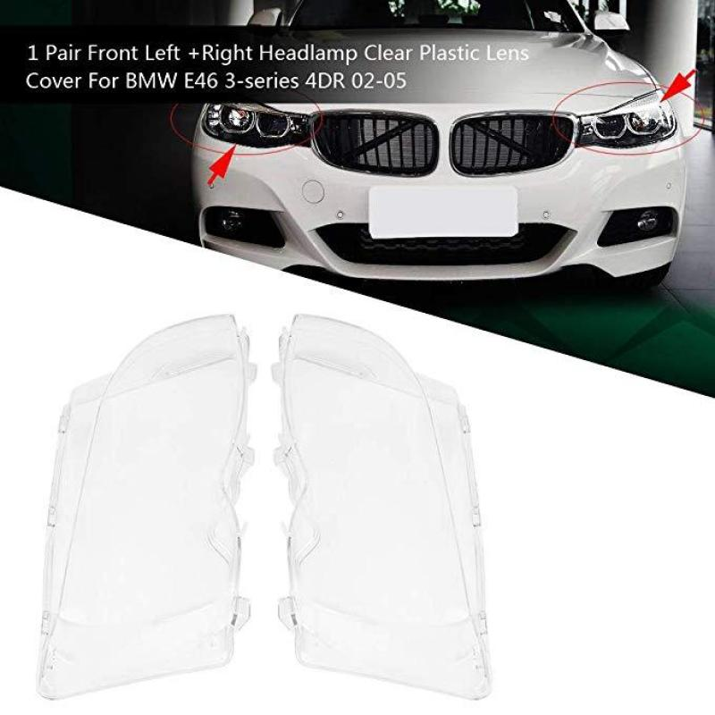 Car Headlight Glass Cover Lamp Cover The Headlight Cover Is Suitable For Bmw E46 3 Series 2002-2005 318I / 320I / 325I / 325Xi / 330I / 330Xi