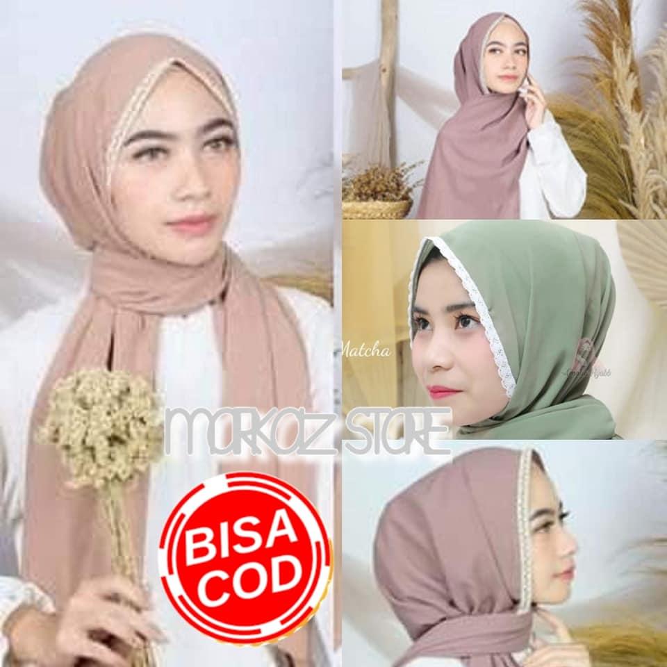 Hits Pasmina Tali Cerutty Renda Hijab Jilbab Kerudung Pasmina Tali Renda Warna Terlengkap Lazada Indonesia