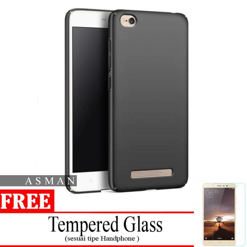 Asman Case Black Moon Xiaomi Redmi 5a Softcase (anti Minyak) Bonus Tempered Glass By Asman Authentic.