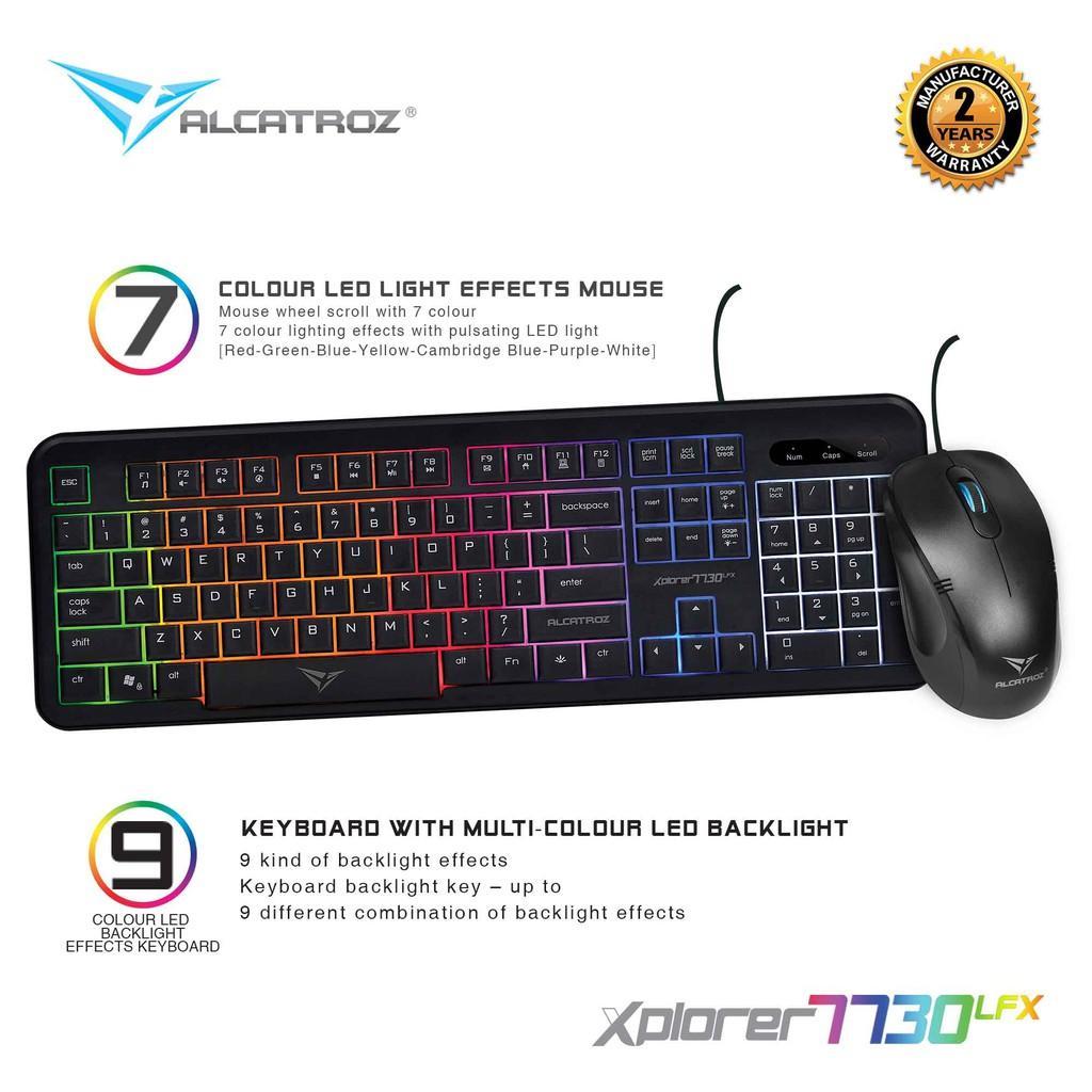f9b8b9b05bb Alcatroz Combo Keyboard & Mouse Xplorer 7730 LFX [ 2 Tahun Garansi Resmi ]  [ Product