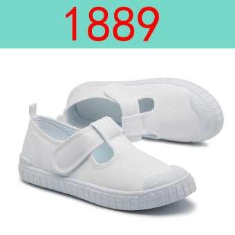 รองเท้าเด็กสีขาวรองเท้าผ้าใบเด็กผู้ชายสีขาวรองเท้าผ้าเด็กผู้หญิงโรงเรียนอนุบาลรองเท้าสีขาวเด็ก Petpet นักเรียนรองเท้าออกกำลังกาย