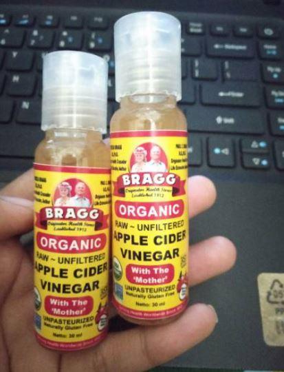 Bragg Apple 30 ml Cider Vinegar ( Cuka Apel ) Original - share in jar 1pcs