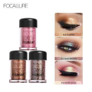 FOCALLURE 3PCS Glitter Eyeshadow powder set Easy to blend Professional women makeup FA37SET thumbnail