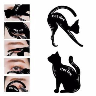 Cetakan Cat Line Eye Makeup Cetakan Eyeliner Template Makeup Tools Kit Cat Eye Alat bantu cetak Eyeliner - 1 SET ISI 2 PCS thumbnail