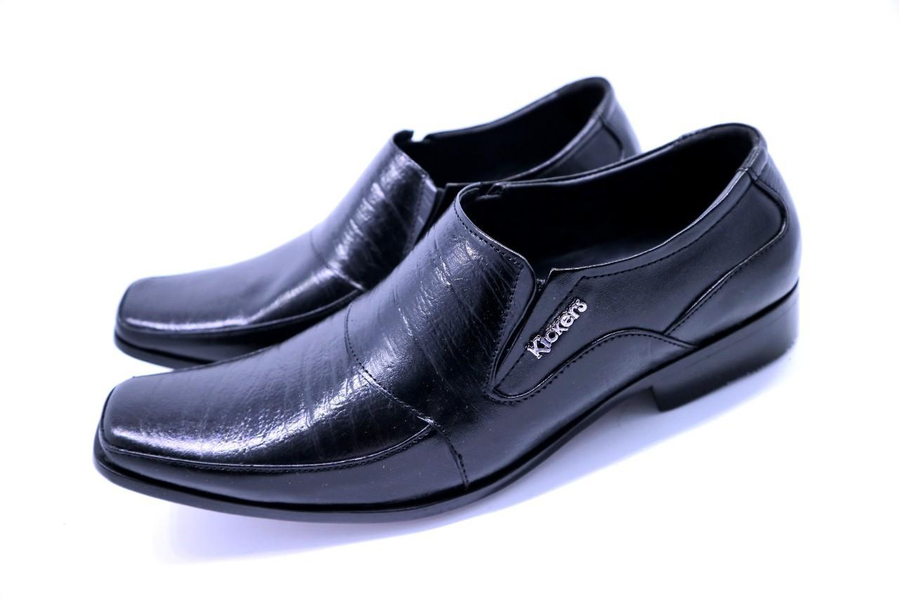 Sepatu Boot PAntofel resleting samping Kulit Asli Pria Formal Kasual GEOX U JAYLON ANKLE BOOTS BLACK GT01823