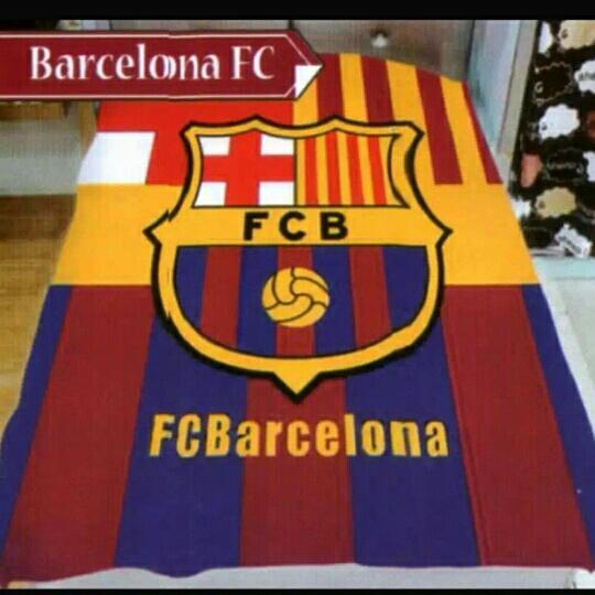 Selimut Motif Barcelona 3D Kualitas Import ukr 150x200 Bahan halus nyaman