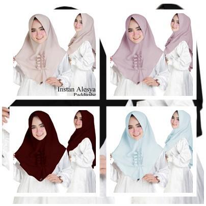 Auzara Hijab/Jilbab Instan Model Bergo terbaru termurah dan Terlaris / Kerudung Wanita alesya - Maroon