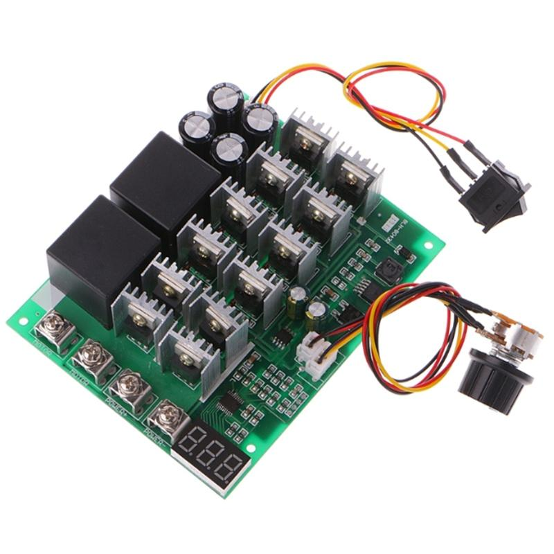 DC 10-55V 60A PWM Motor Speed Controller CW CCW Reversible Switch 12 24 36V DIY