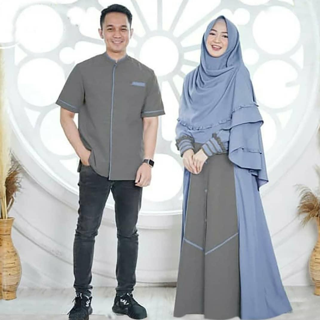 [ COD ] Nizar Couple + Khimar Panjang Mco Moscrepe Baju Muslimah Gamis  Syari Dress Wanita Fashion Remaja Cewek Stelan Terbaru Termurah Trendy  Modern