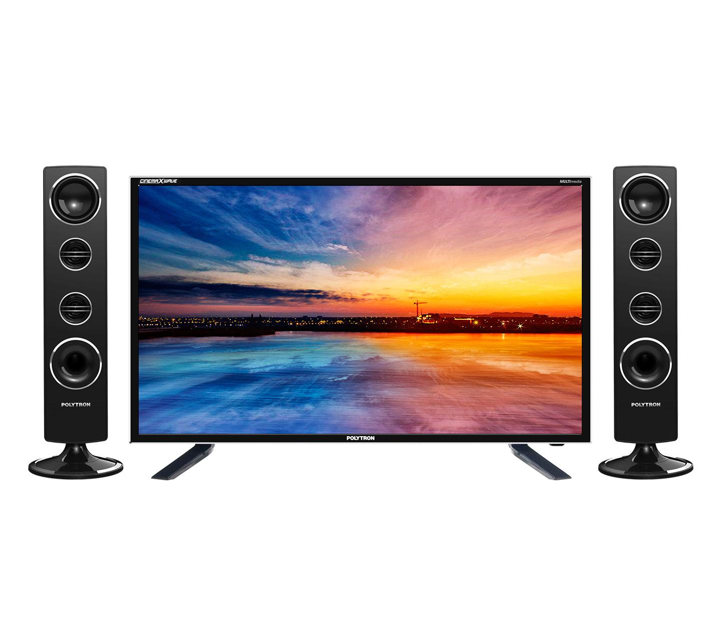 Polytron PLD32T1506 Tower CinemaX WAVE BLUETOOTH [32 Inch] FREE PACK KAYU