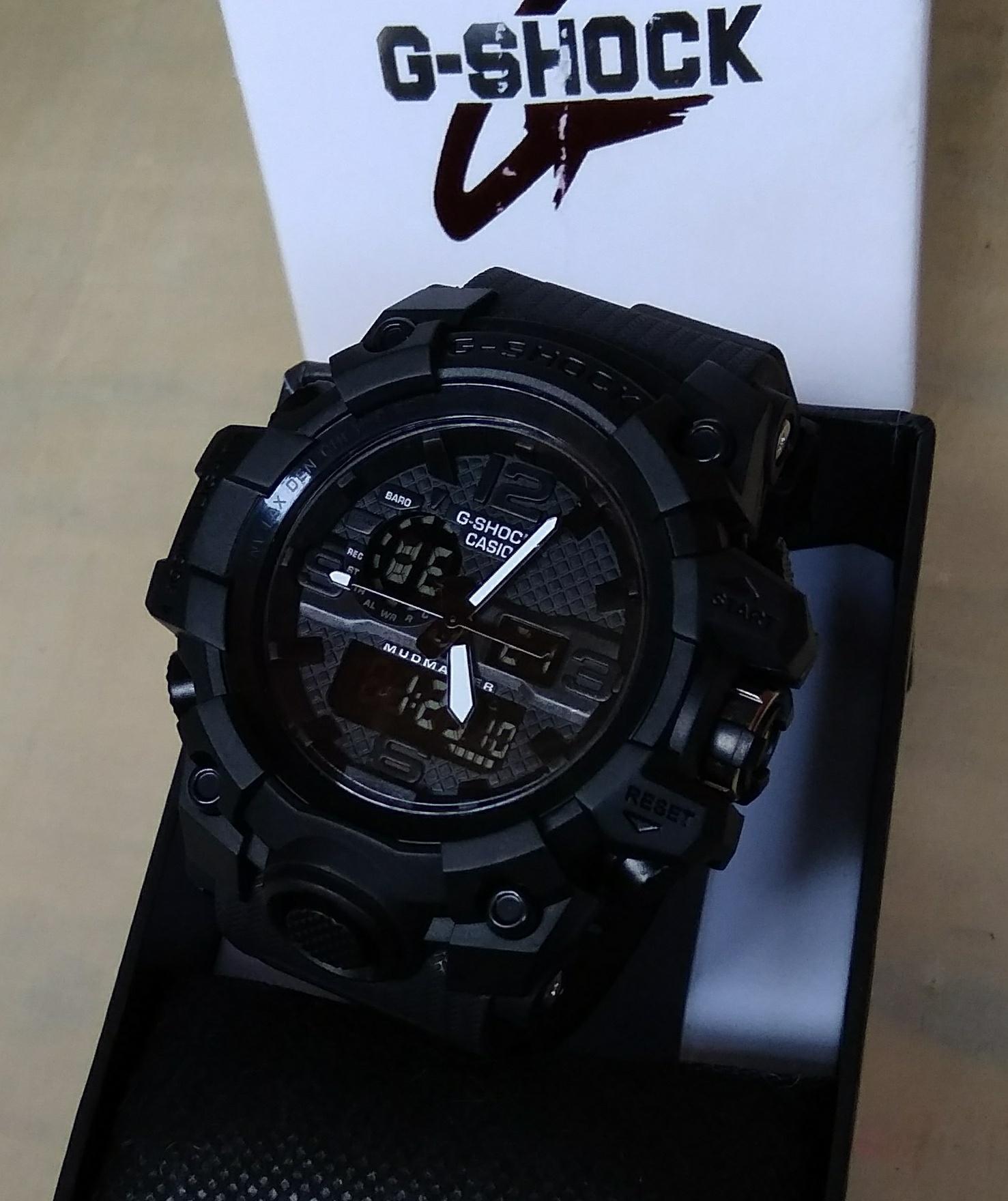 PROMO JAM TANGAN SPORT PRIA CASIO G SHOCK_GWG1000  NEW DUAL TIME TAHAN AIR / WATERR RESIST TERBARU