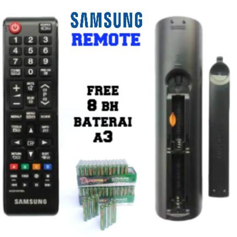 Samsung Original Remote for LCD or LED TV AA59-00798A - Remote TV Samsung Original 100% + Free 4 Buah Baterai A3.