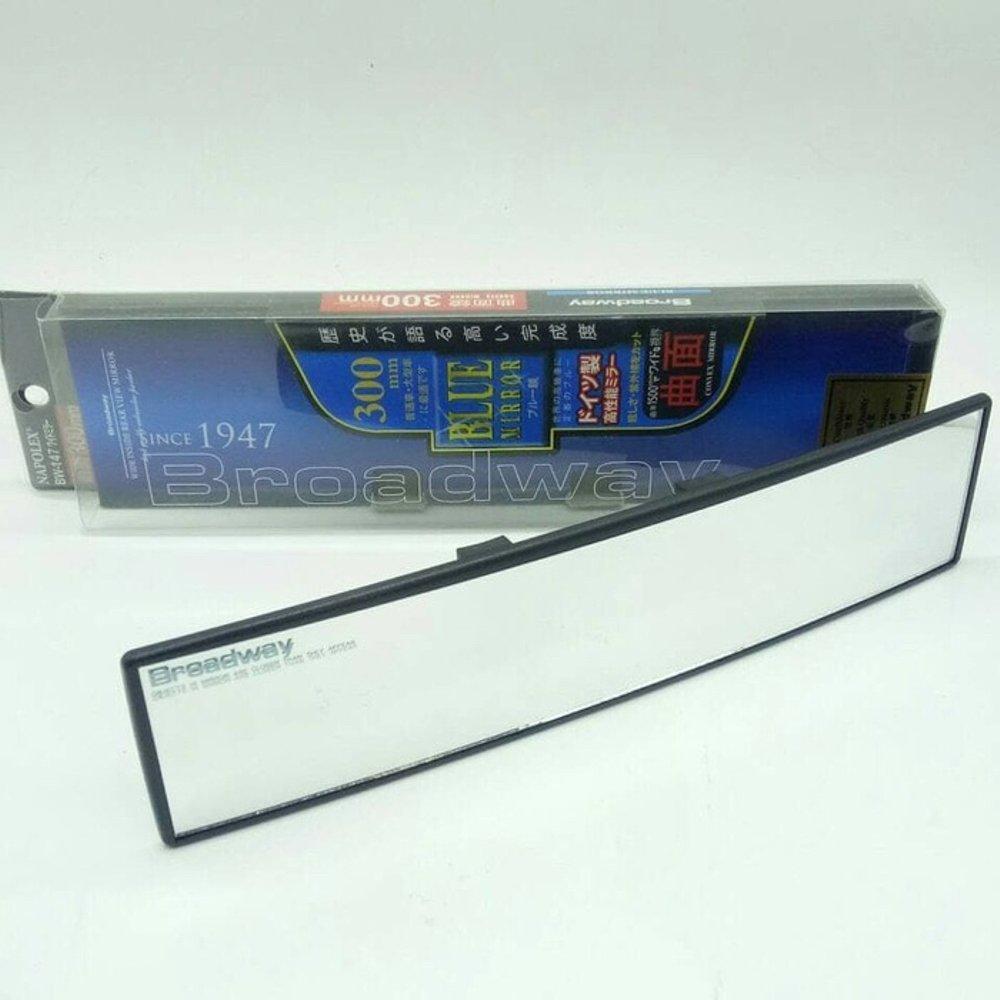 Kaca Spion Tengah 300mm Convex Mirror Anti Glare BROADWAY PROMO DISKON variasi mobil tomok lipat bi