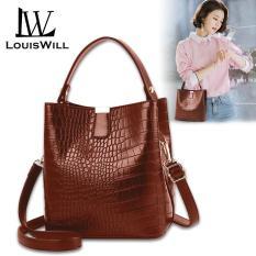 Túi xách nữ giả da chất liệu da PU có ngăn lớn để đồ tiện lợi LouisWill