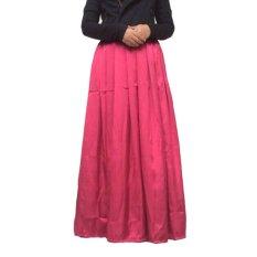 Afifah Label Hanbok Umbrella Skirt - Maroon