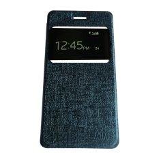 Aimi Leather Case Sarung Untuk Oppo Neo 5 A31T R1201 Flipshell/Flipcover - Biru tua