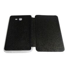 Aimi Leather Case Samsung Galaxy Tab 3 V T116 Sarung Samsung T110 / Samsung T111 Flipshell Samsung Tab3V Flip cover Tab 3 Lite T111 - Hitam