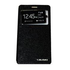 Aimi Leather Case Sarung Untuk Sony Xperia M5 Aqua Premium Flipshell/Flipcover - Black