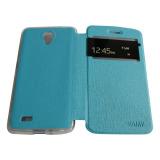 Aimi Leather Case Sarung Untuk Vivo Y21/Y22 Flipshell/Flipcover - Biru Muda | Lazada Indonesia