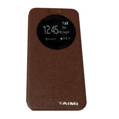 Aimi Leather Case Sarung Untuk Zenfone 6 A600CG Flipshell/Flipcover- Brown