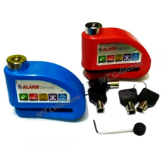Alarm Disc Lock Perfect Guard Shock Sensor - Gembok Alarm Motor - Merah
