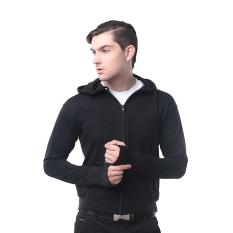 Alphawear - Jaket Pria Exclusive Knite Hoodie Black