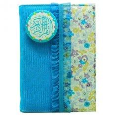 Harga Alquran Madina Zhafira Turquoise Canvas Flower 2 Original